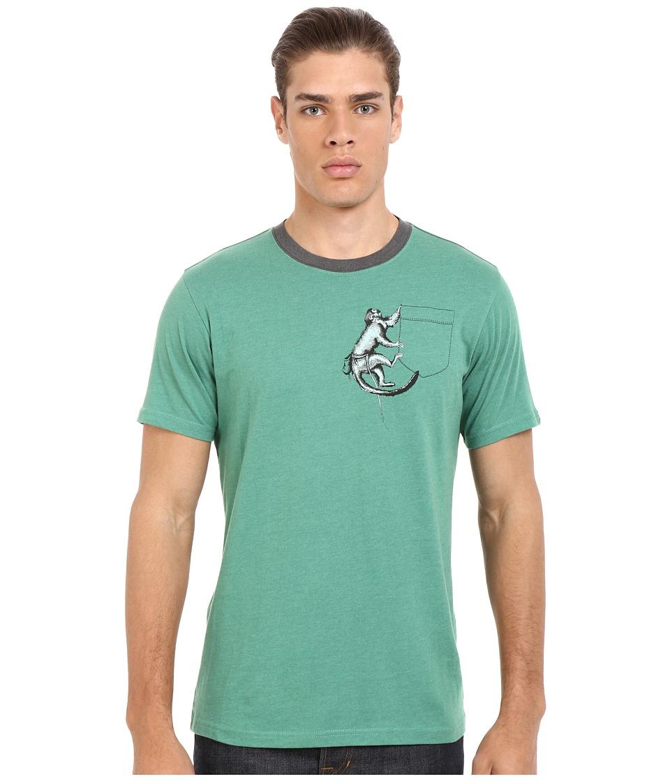 Prana - Silly Monkey Ringer (Dusty Pine) Men's T Shirt