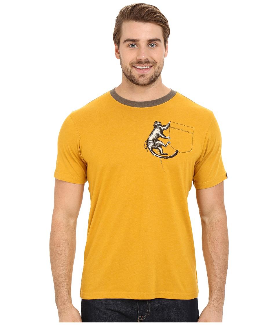 Prana - Silly Monkey Ringer (Marigold) Men's T Shirt