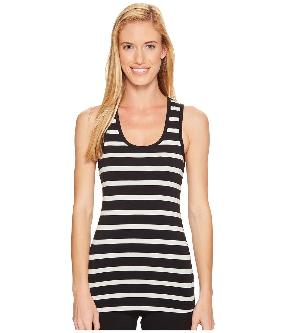 Lole - Pinnacle Tank Top (Black Mini Stripe) Women's Sleeveless