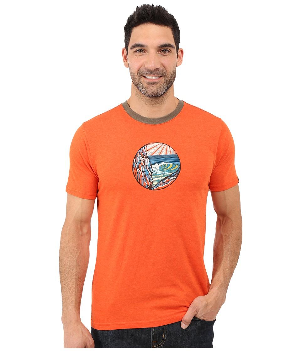 Prana - Swell Ringer (Cayenne) Men's T Shirt