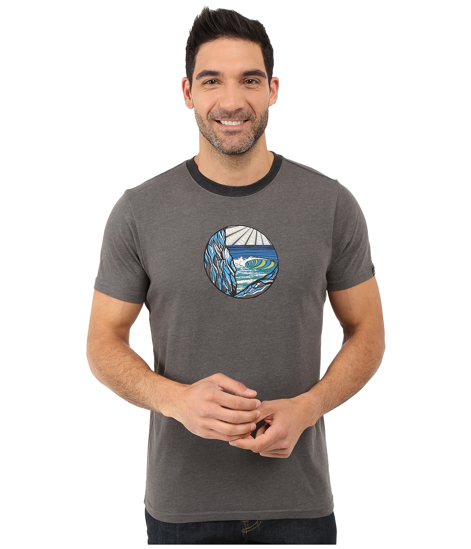 Prana - Swell Ringer (Charcoal) Men's T Shirt
