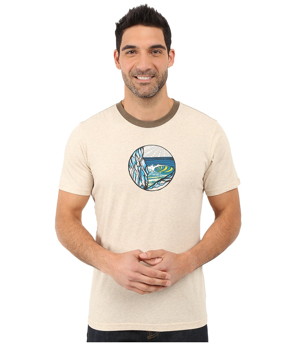 Prana - Swell Ringer (Stone) Men's T Shirt