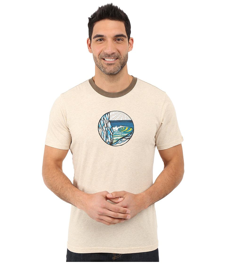 Prana - Swell Ringer (Stone) Men's T Shirt