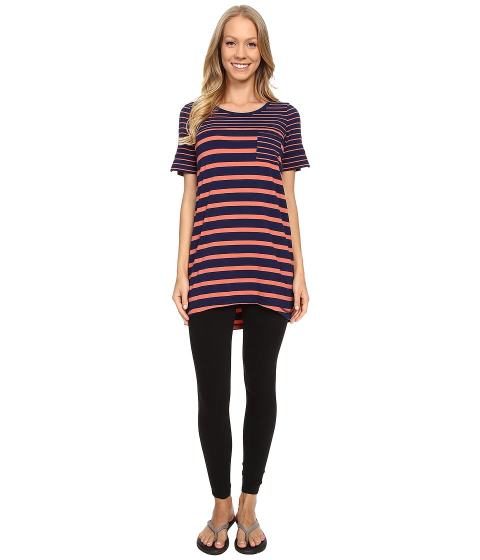 Lole - Principle Tunic (Mirtillo Blue Stripe) Women's Blouse