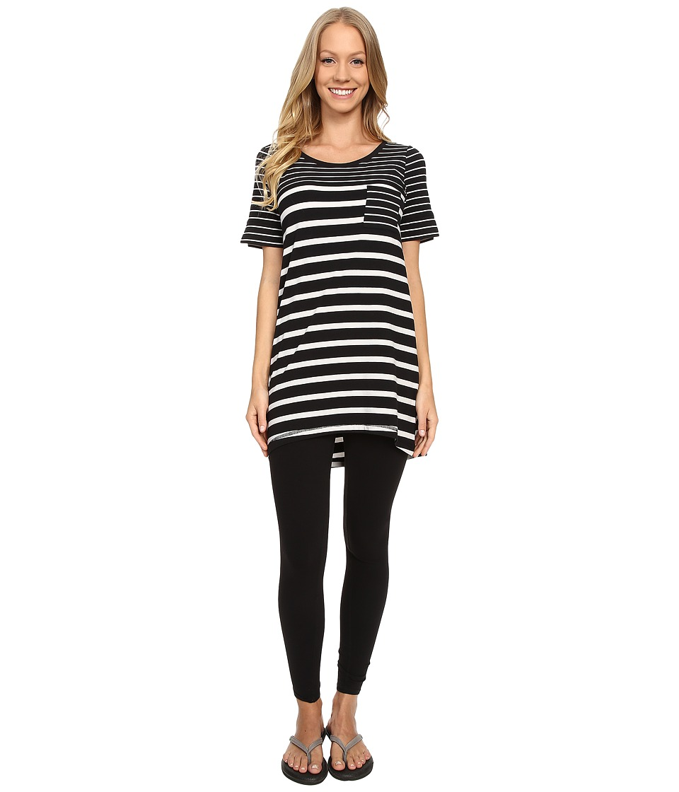Lole - Principle Tunic (Black Stripe) Women's Blouse