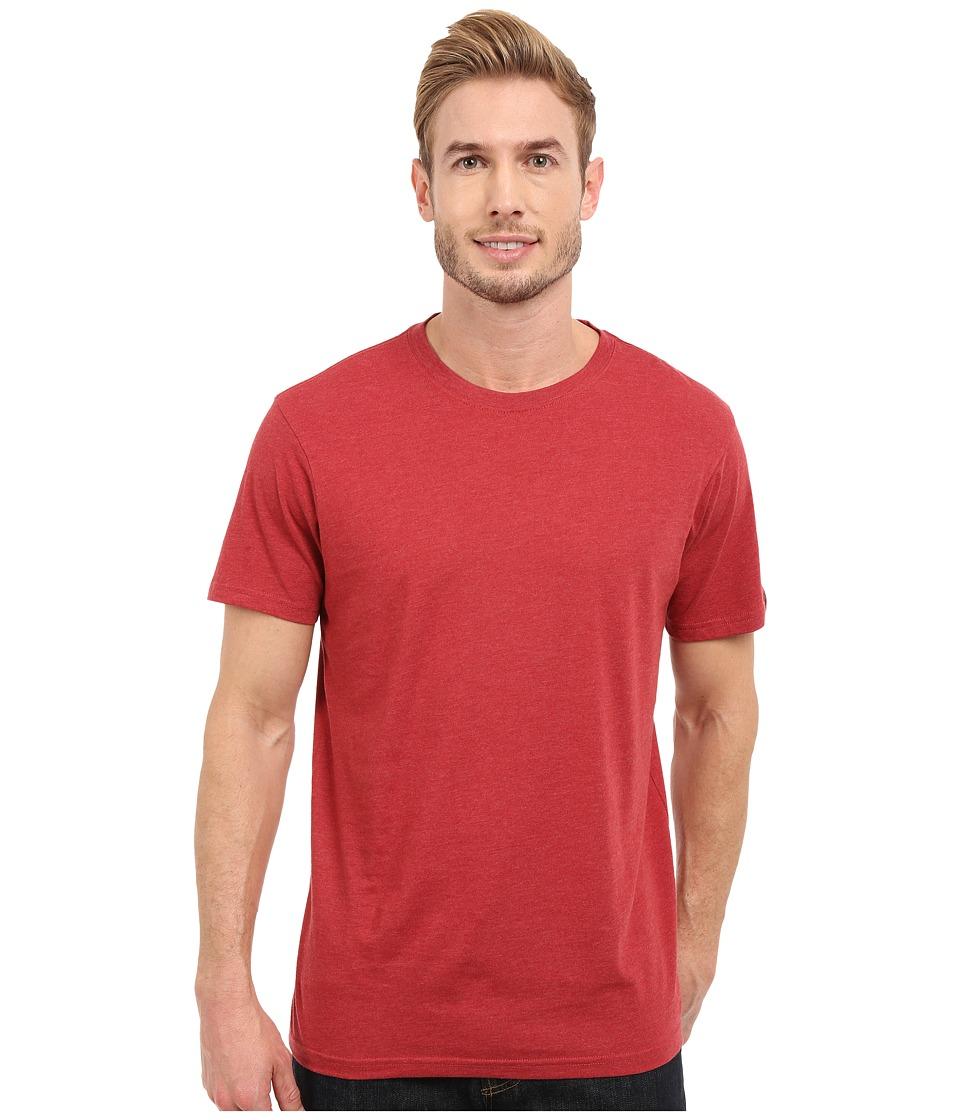 Prana - prAna Crew Tee (Red Rock Heather) Men's Short Sleeve Pullover