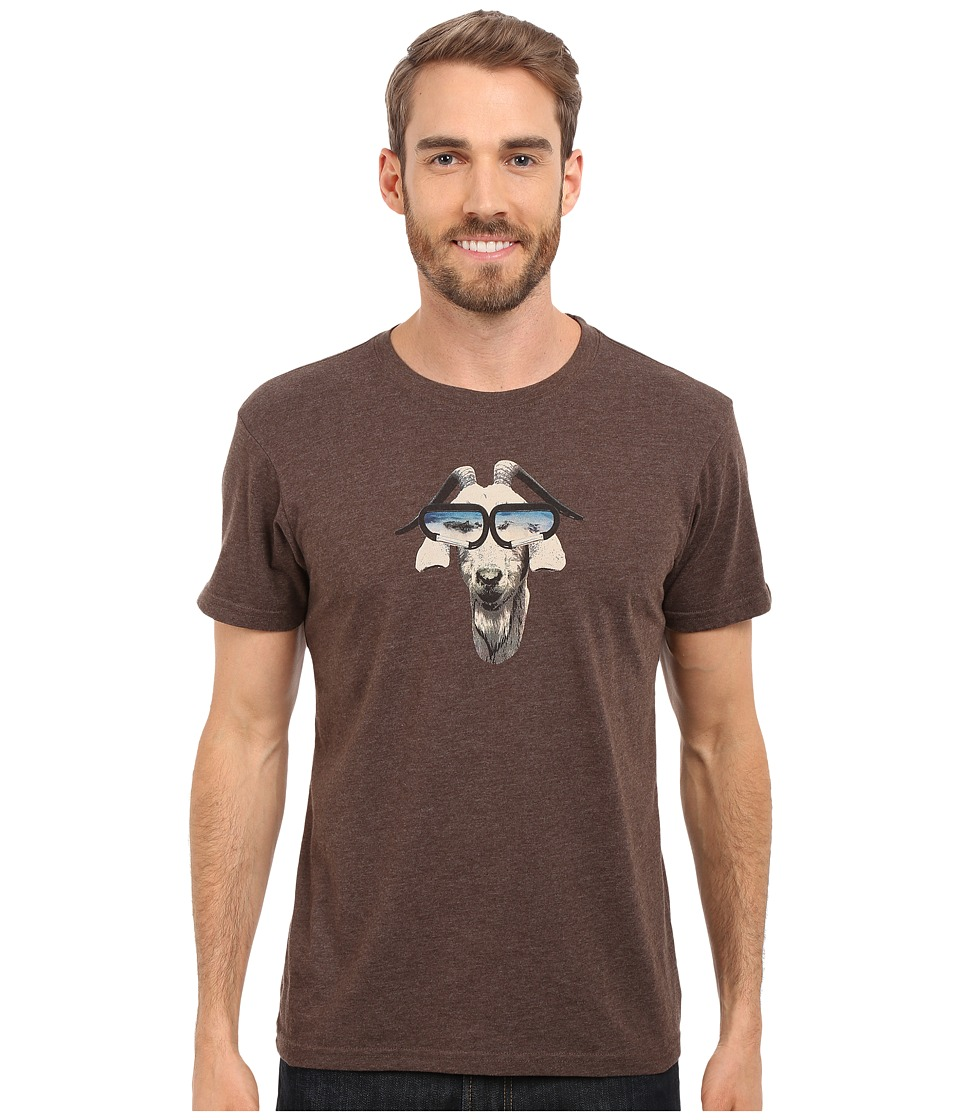 Prana - Goat Slim Fit Tee (Brown Heather) Men's T Shirt