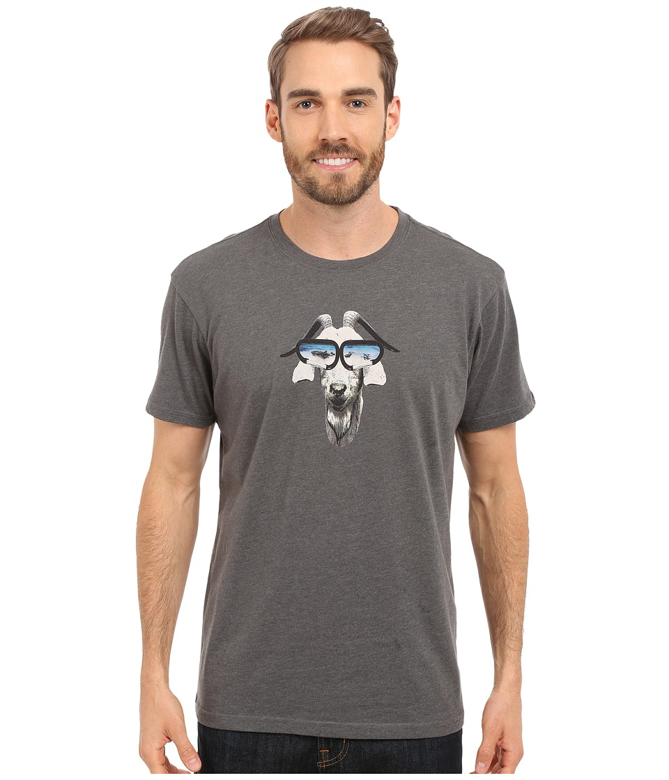 Prana - Goat Slim Fit Tee (Charcoal Heather) Men's T Shirt