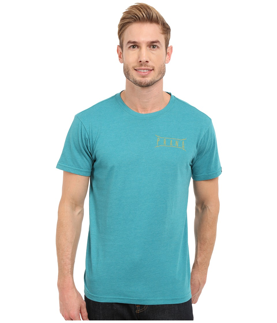 Prana Untouched Slim Fit Tee (Retro Teal Heather) Men