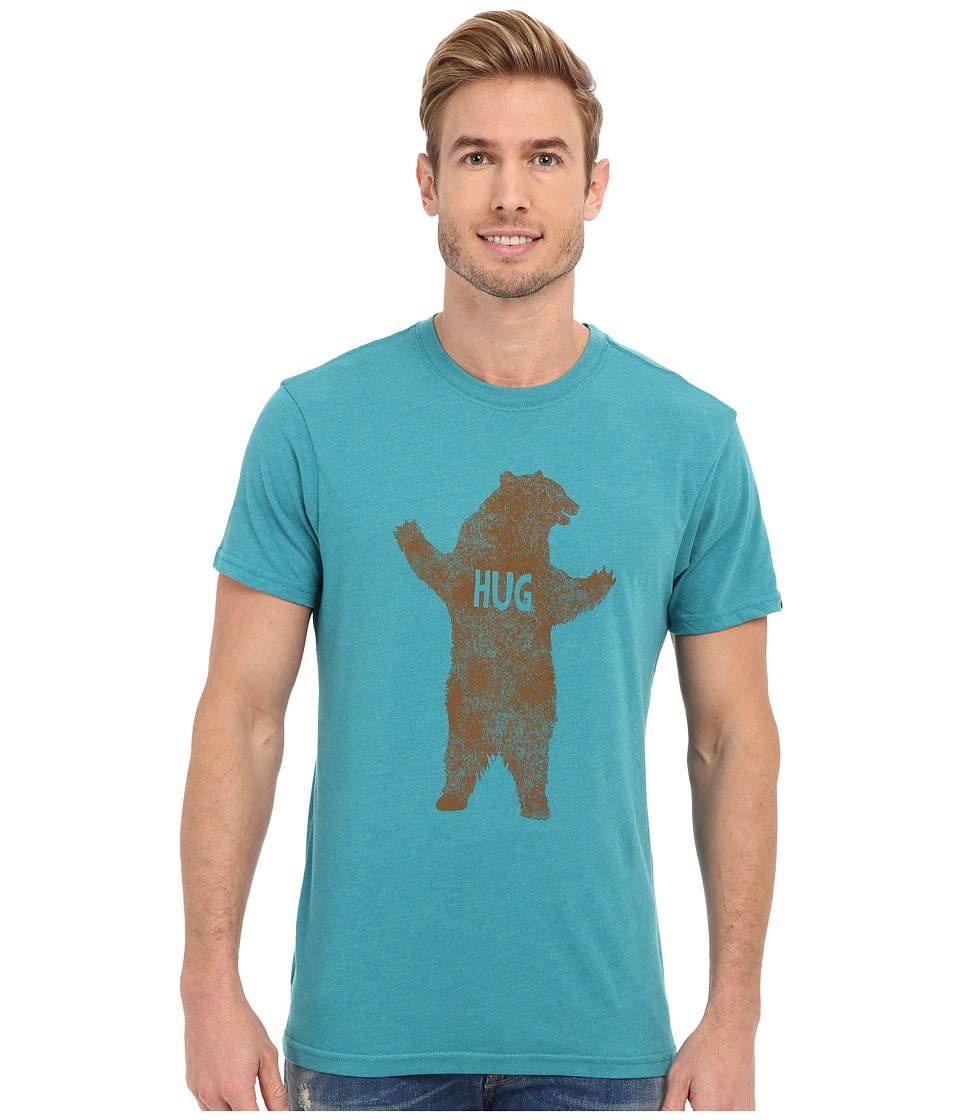 Prana - Bear Slim Fit Tee (Retro Teal Heather) Men's Short Sleeve Pullover