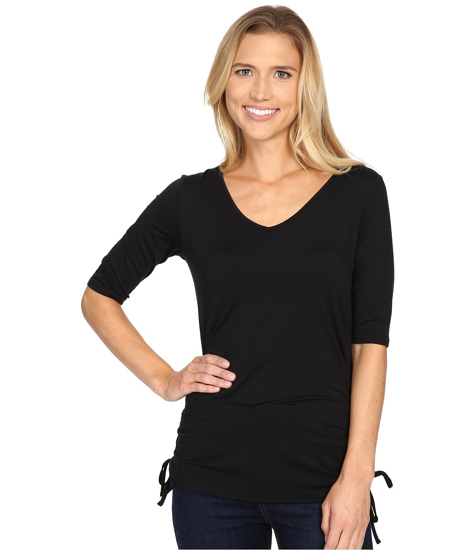 Columbia - Anytime Casual II Tee (Black) Women's Short Sleeve Pullover