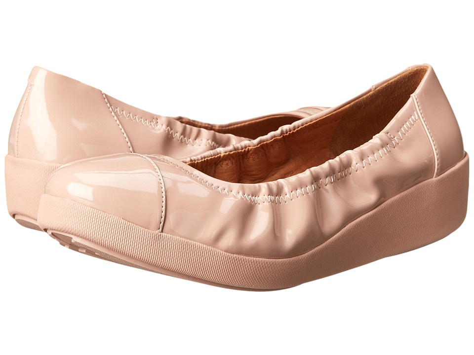 FitFlop F-Pop Ballerina (Nude Patent) Women