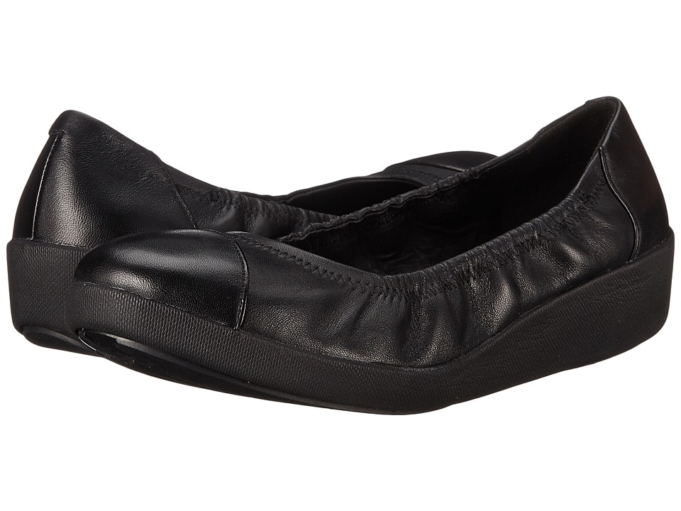 FitFlop - F-Pop Ballerina (All Black Leather) Women