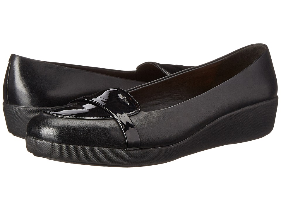 FitFlop - F-Pop Loafer (Black) Women's Shoes