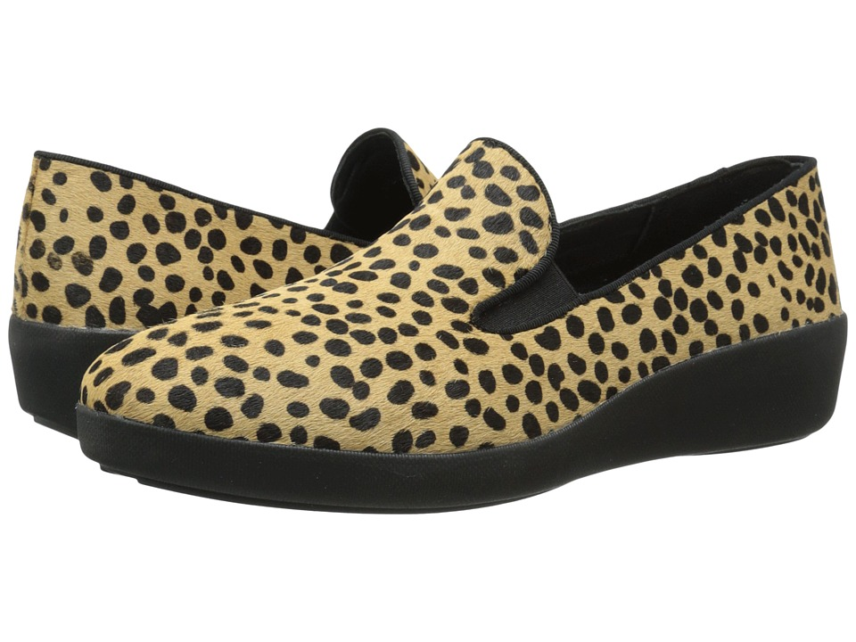 FitFlop - F-Pop Skate (Leopard Pony) Women's Shoes