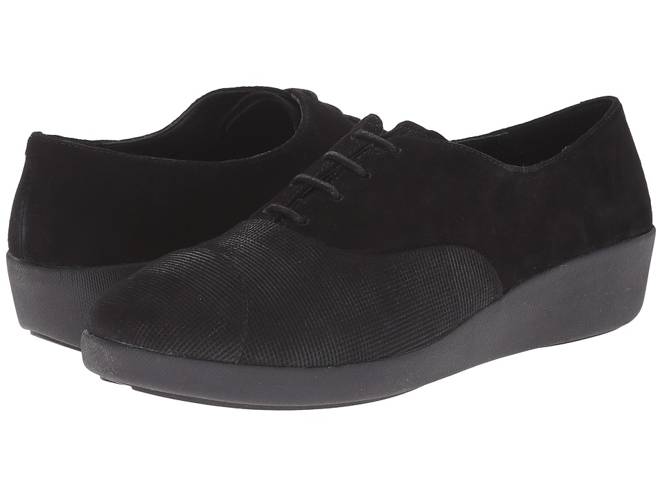 FitFlop F-Pop Oxford Opul (Black) Women
