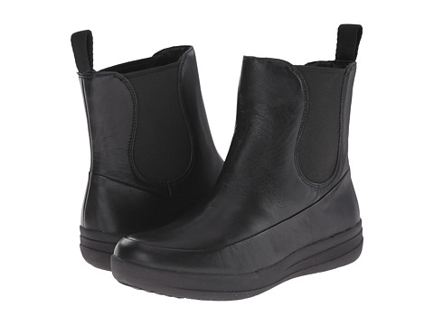 FitFlop - FF-Lux Chelsea Boot (All Black Leather) Women