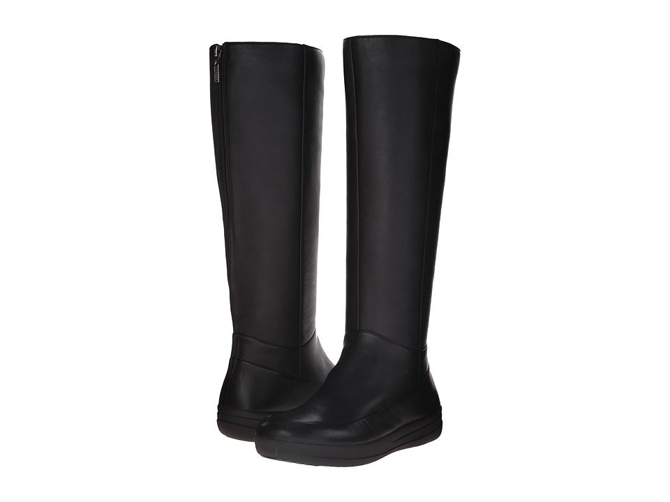 FitFlop FF-Lux Knee Boot All Black Womens  Boots