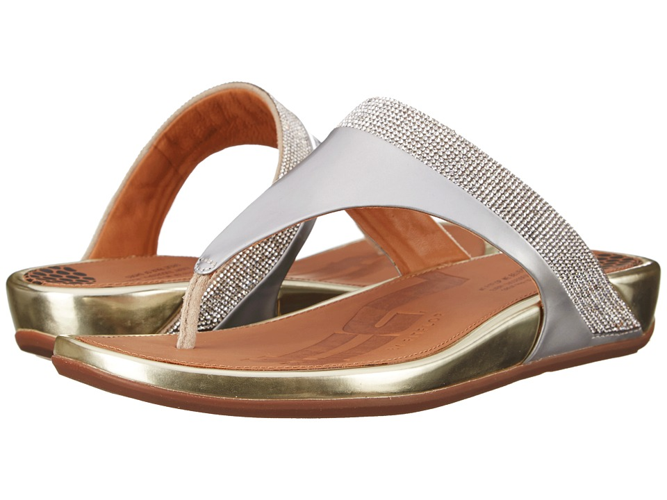 FitFlop Banda Micro-Crystal Toe Post (Pale Gold) Women