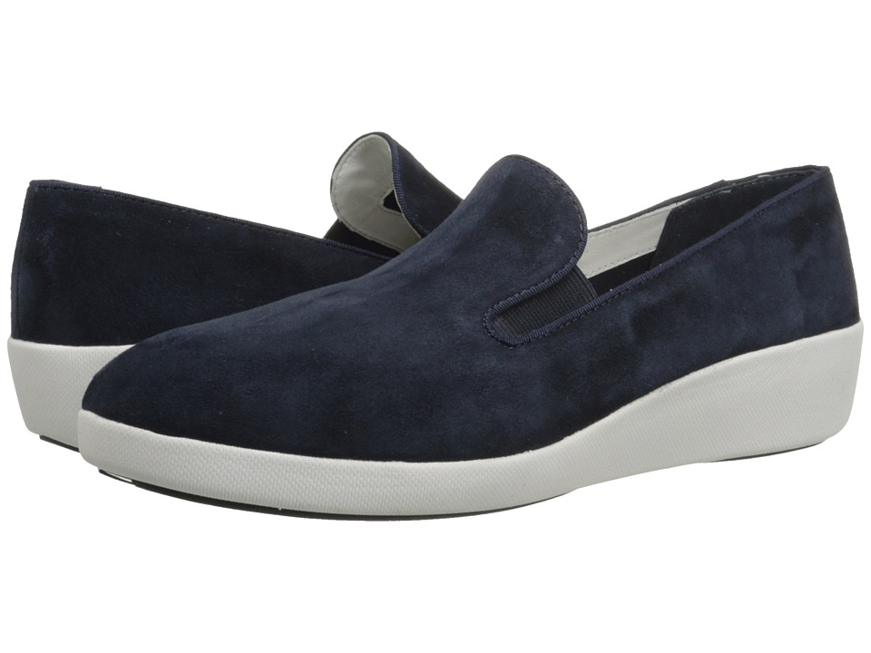 FitFlop - F-Pop Skate (Supernavy Suede) Women