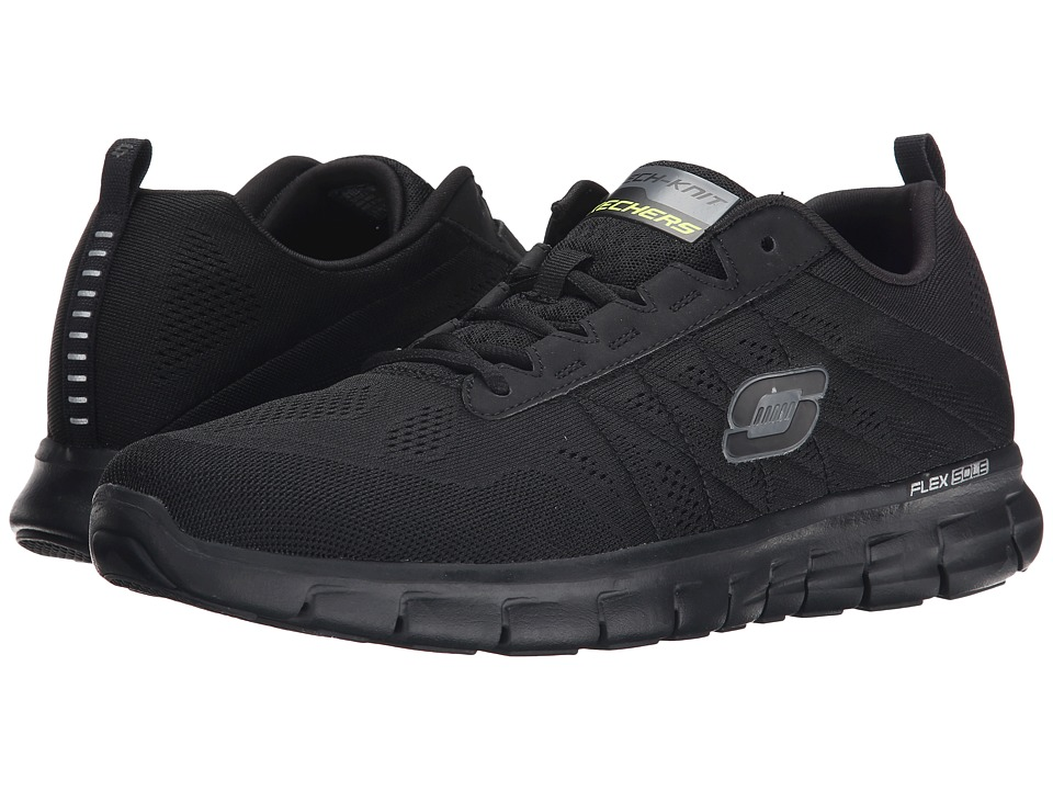 SKECHERS - Synergy - Power Switch (Black) Men's Lace up casual Shoes