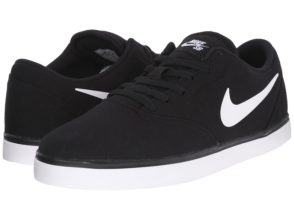 Nike SB - Check Canvas (Black/White 1) Men's Skate Shoes