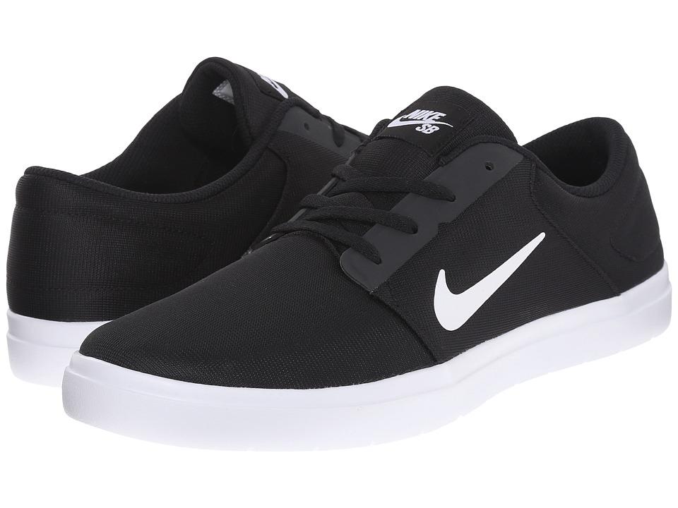 Nike SB - Portmore Ultralight Mesh (Black/White 1) Men's Skate Shoes