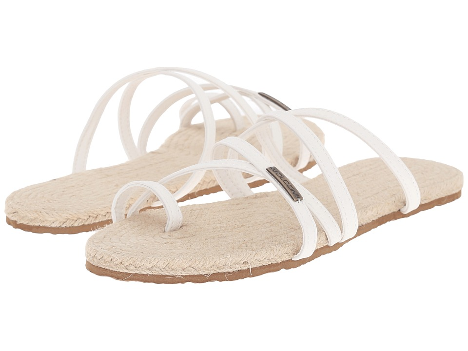 Volcom - Hook It Up Sandal (White) Women's Sandals