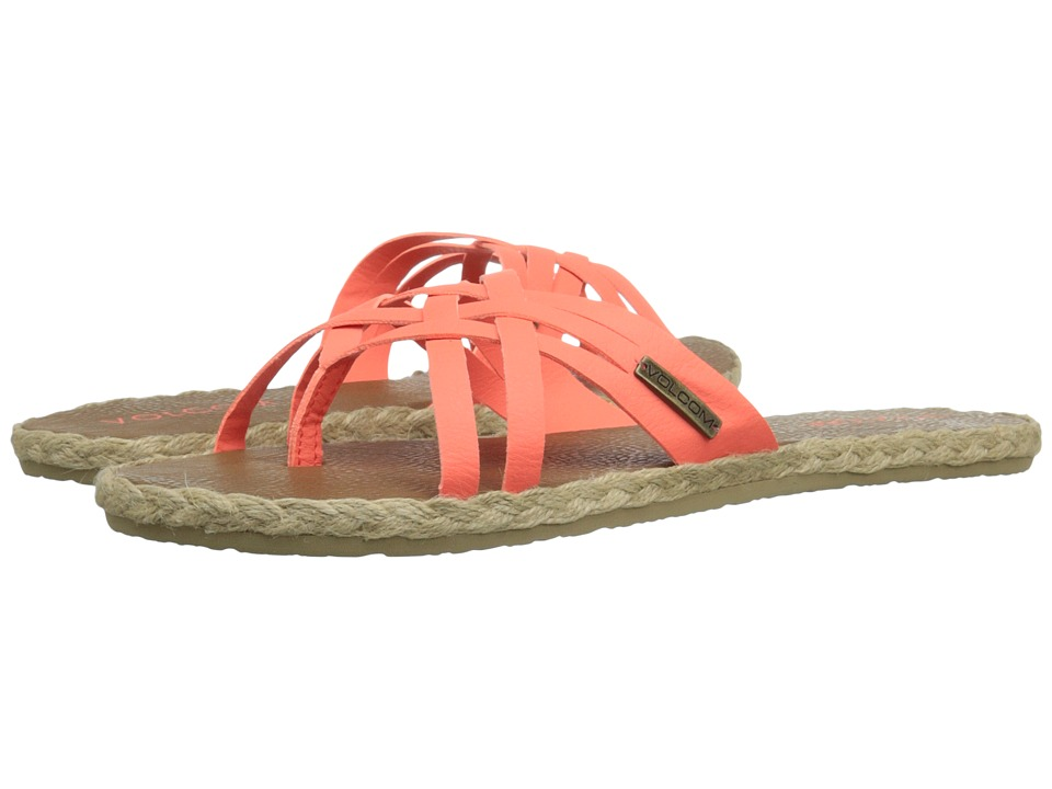 Volcom Check In Sandal (Electric Coral) Women