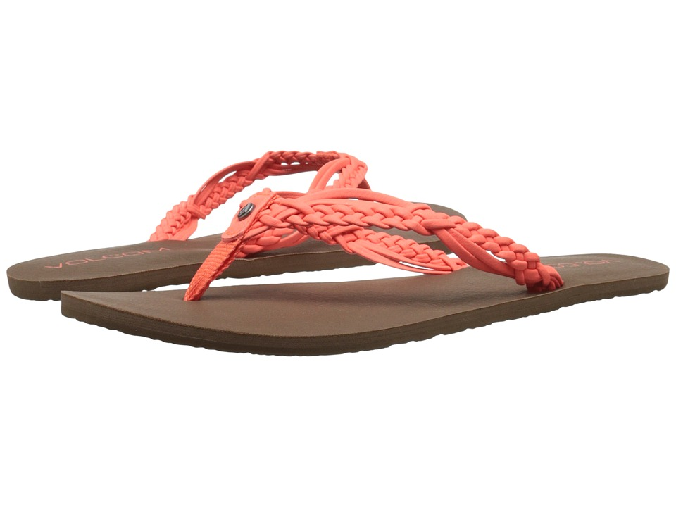 Volcom - Tipsy Sandal (Electric Coral) Women's Sandals