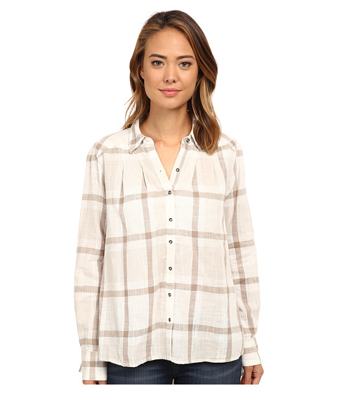 Free People - Slubby Yarn Dyed Cotton Peppy In Plaid (Ivory Combo) Women's Clothing