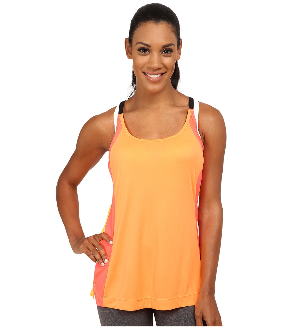 Fila - Loosen Up Tank Top (Orange Pop/Fiery Coral/Black) Women's Sleeveless