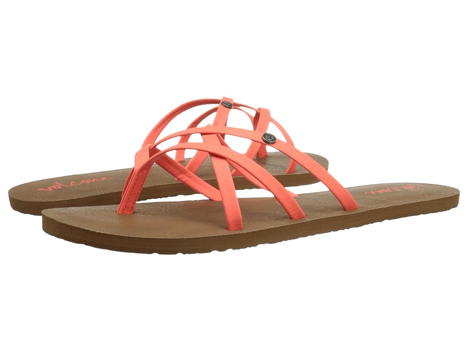 Volcom - New School 2 (Neon Orange) Women's Sandals
