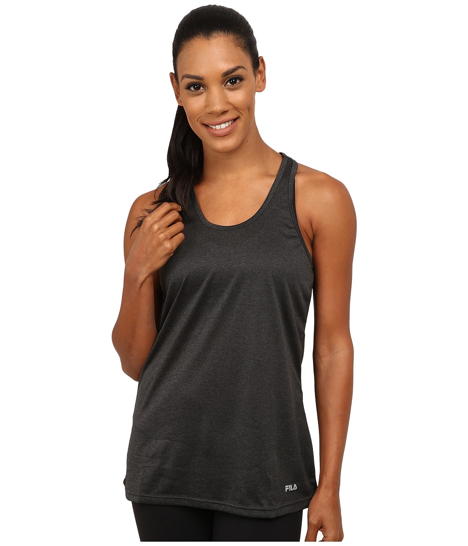 Fila - Move It Loose Tank Top (Black Heather) Women's Sleeveless