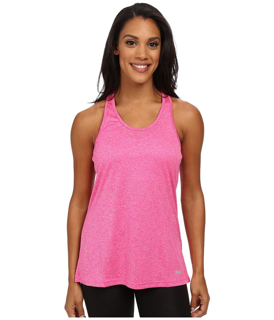Fila - Move It Loose Tank Top (Pink Glo Heather) Women