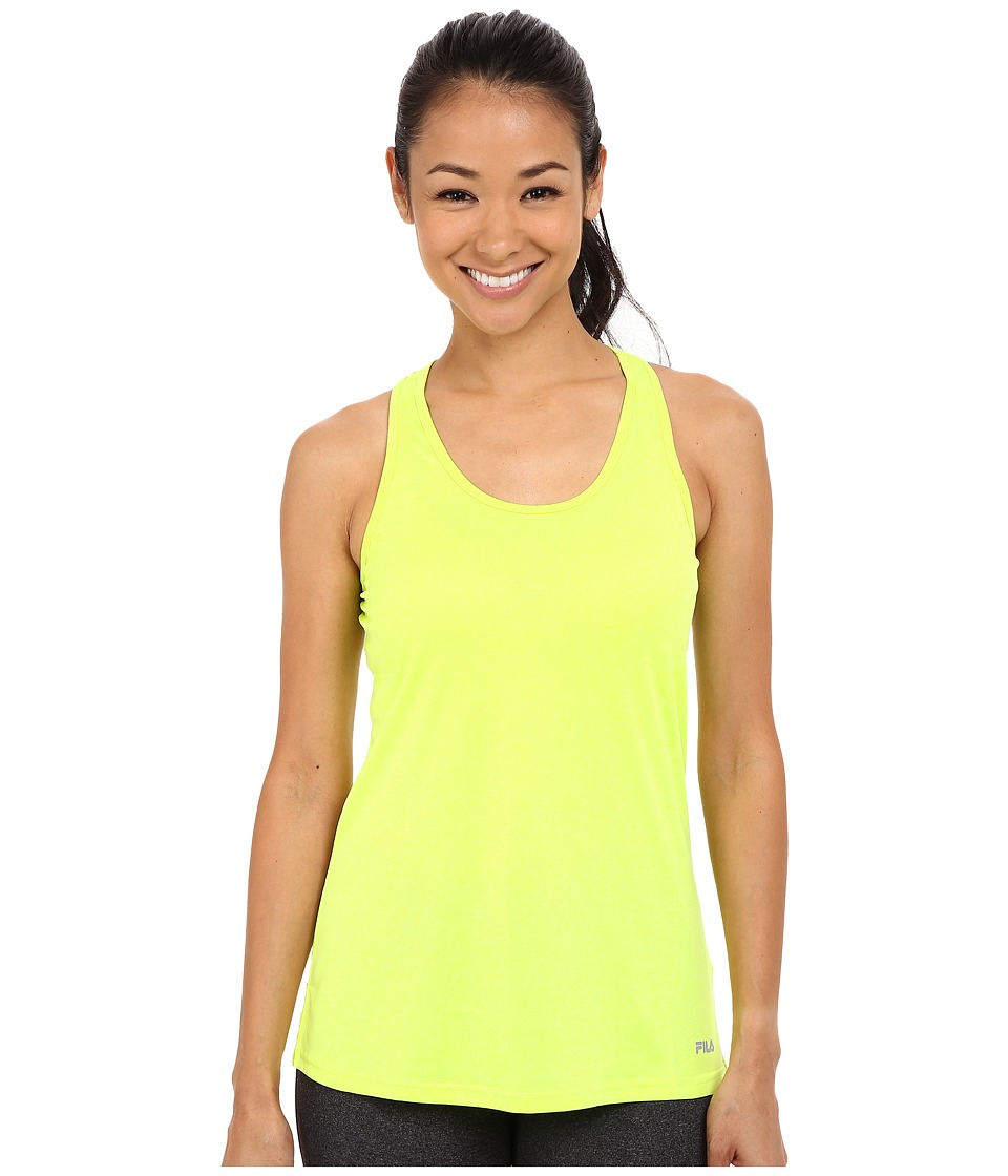 Fila - Move It Loose Tank Top (Safety Yellow Heather) Women's Sleeveless