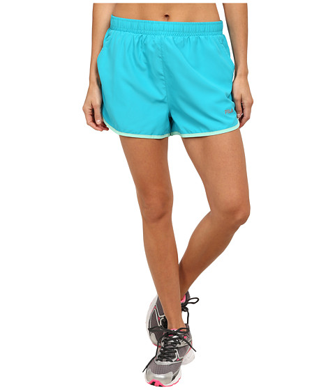 Fila - Contrast Trim Shorts (Bright Teal/Aqua) Women's Shorts