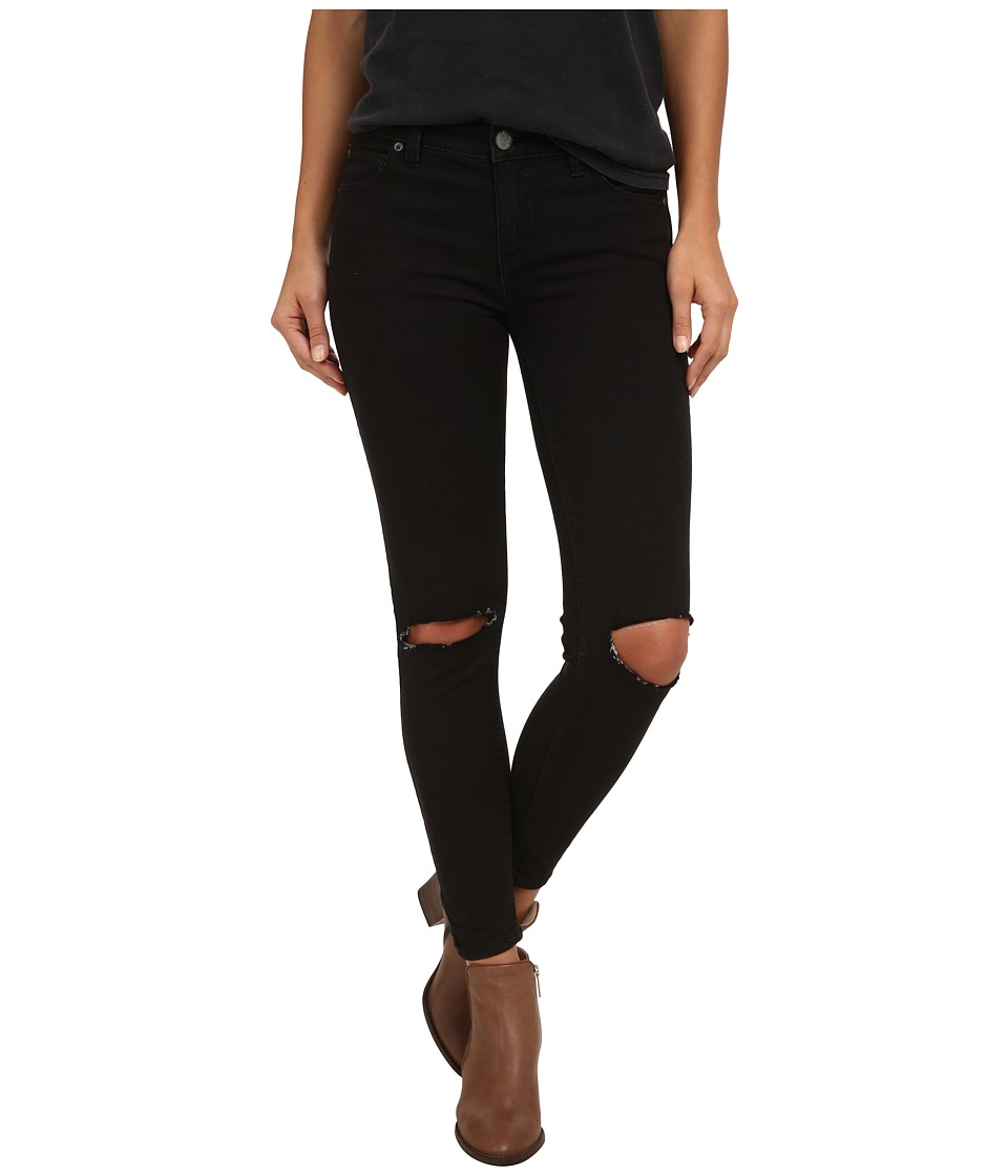 Free People - Destroyed Jeans (Black) Women's Jeans