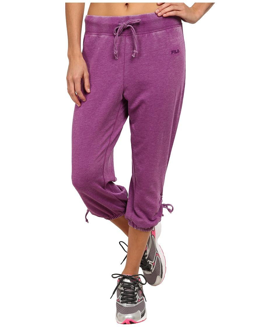 Fila - On Again Off Again Capris (Sparkling Purple) Women's Capri