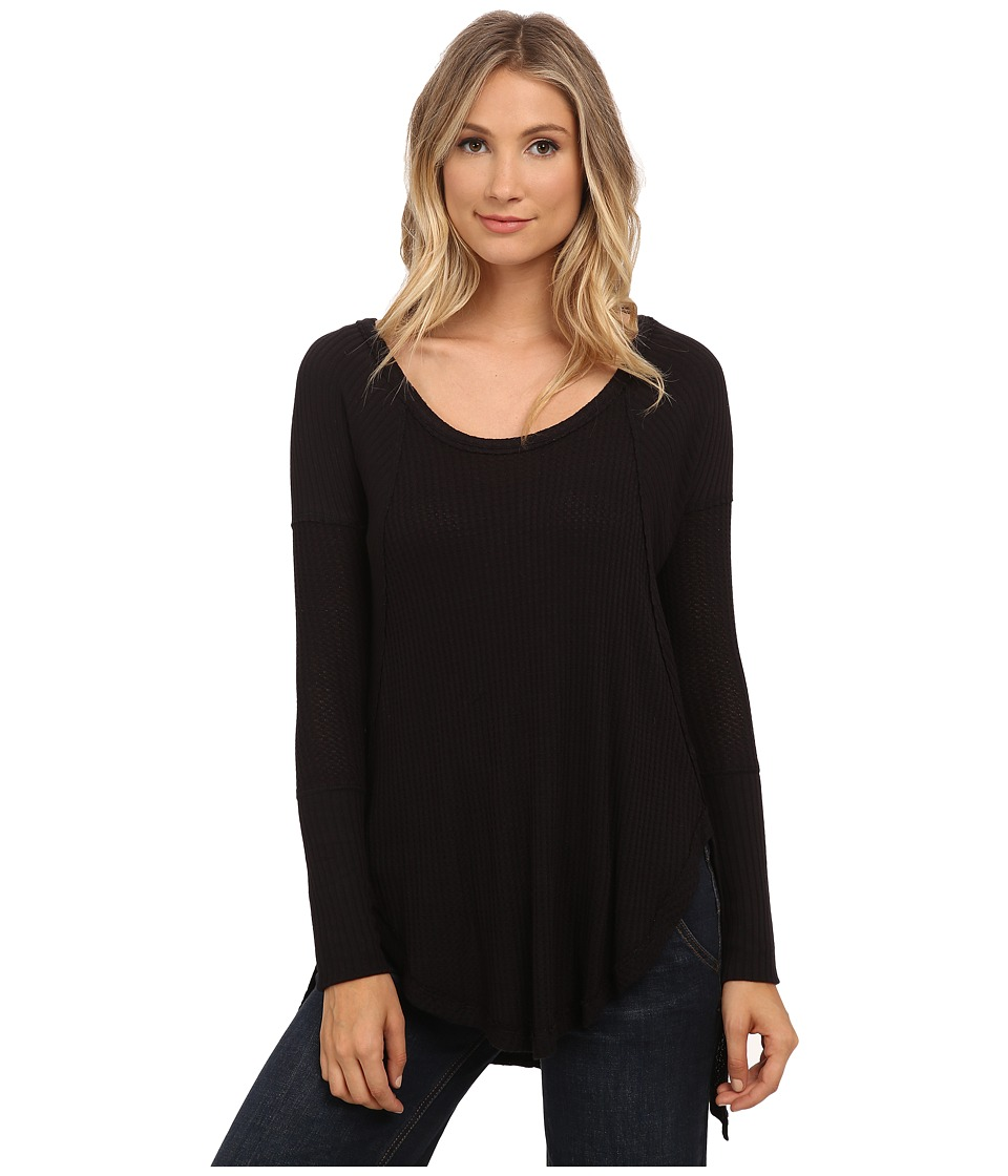 Free People - Drippy Thermal Ventura Thermal (Black) Women's Clothing