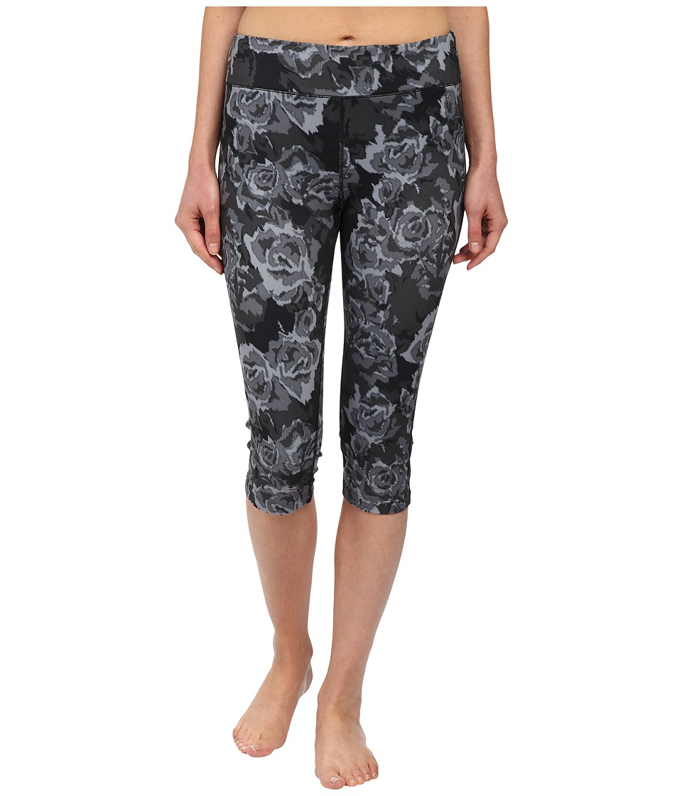 Fila - Pretty Printed Capris (Black Rose Print) Women's Capri