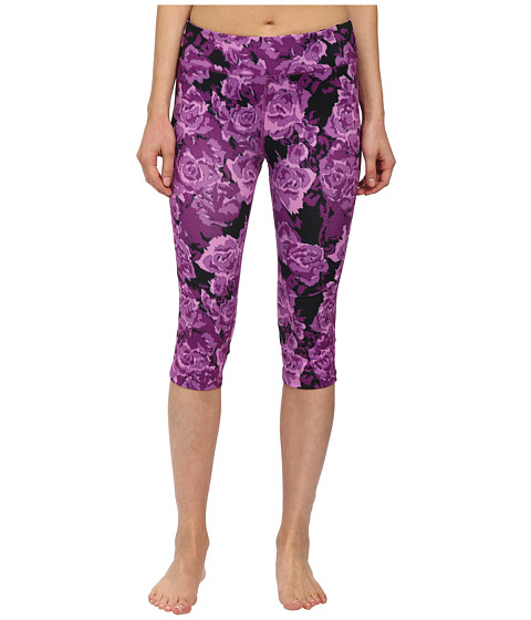 Fila - Pretty Printed Capris (Purple Rose Print) Women's Capri