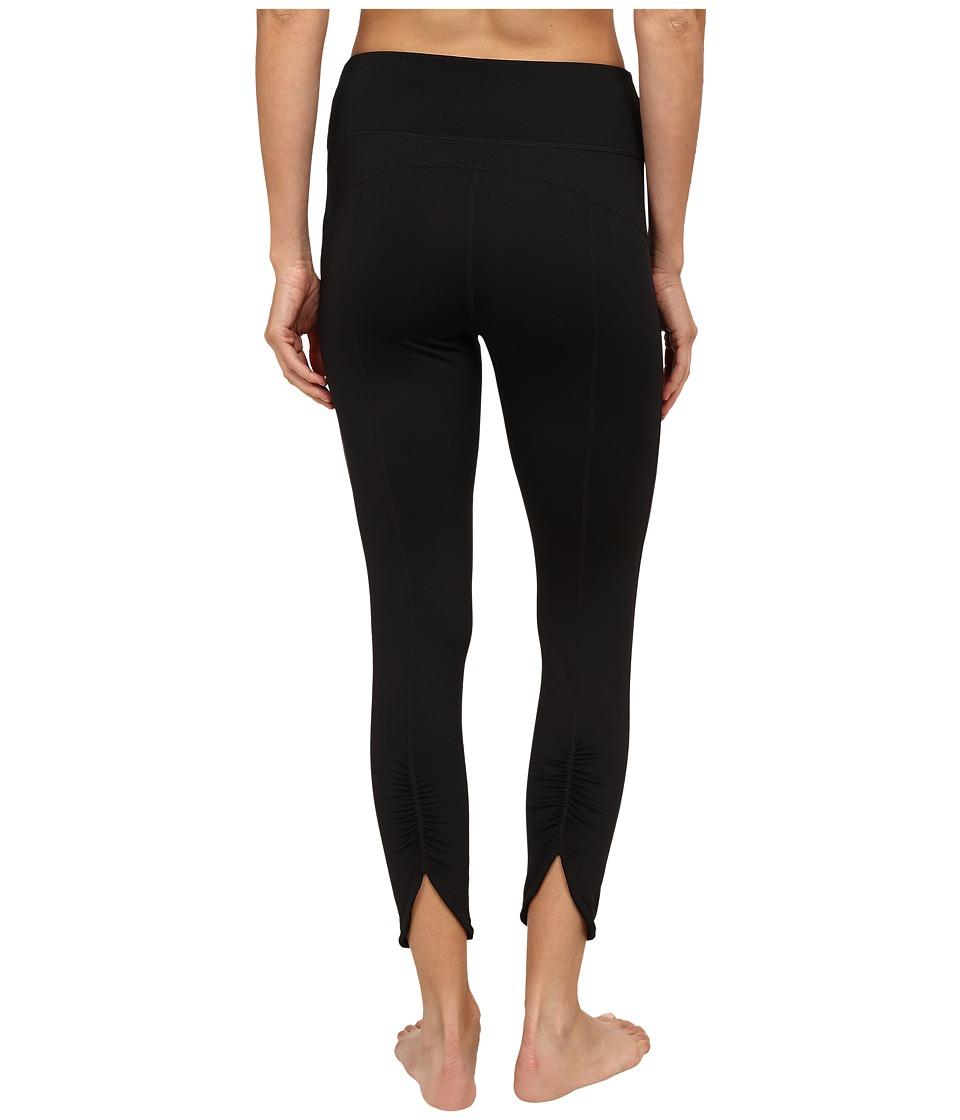 Fila - Glam 3/4 Ruched Capris (Black/Black) Women's Capri