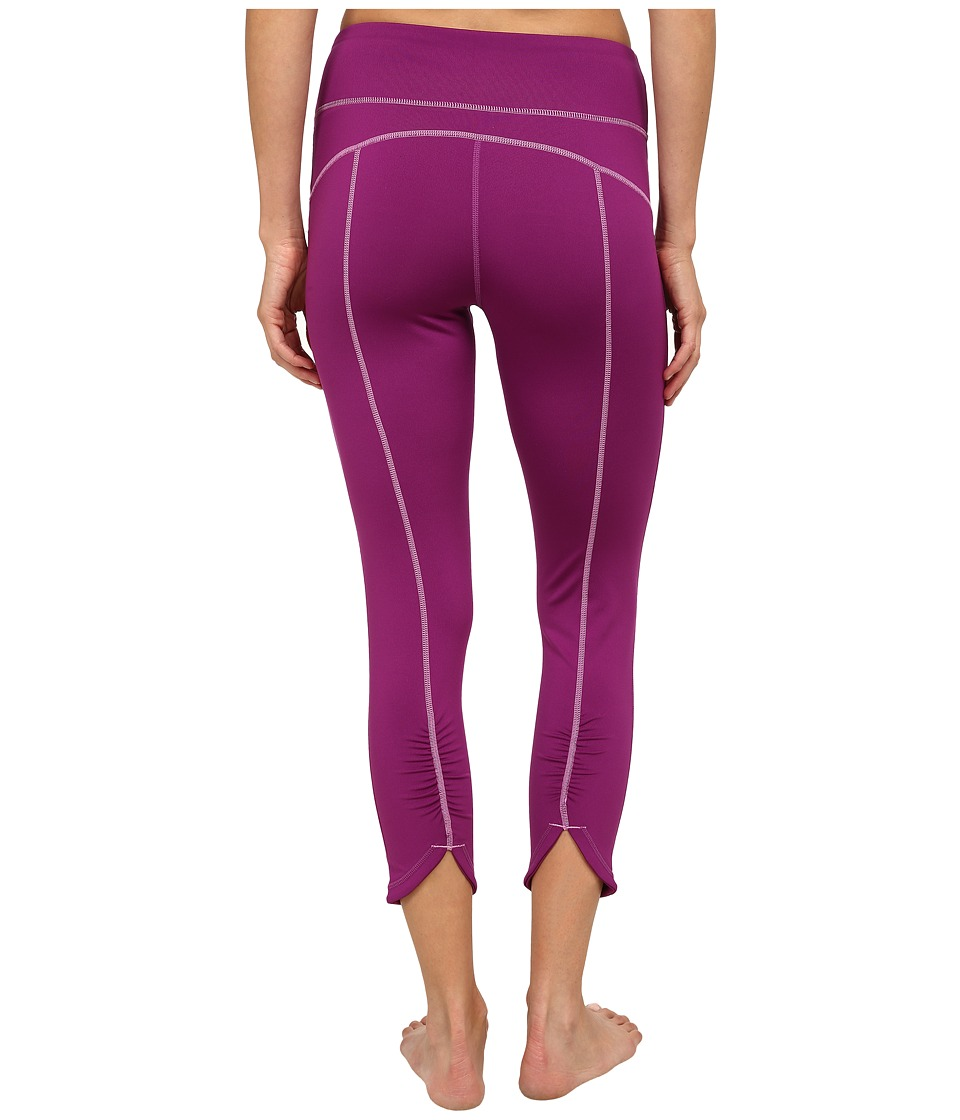 Fila Glam 3/4 Ruched Capris (Sparkling Purple) Women