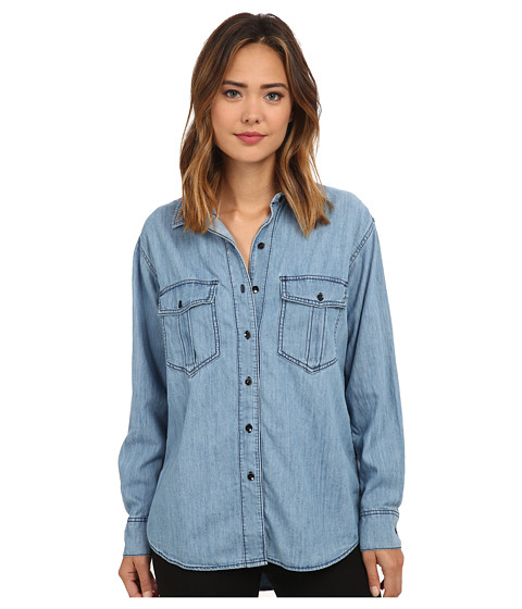 Free People - XO Denim Button Down (Chambray 2) Women's Clothing