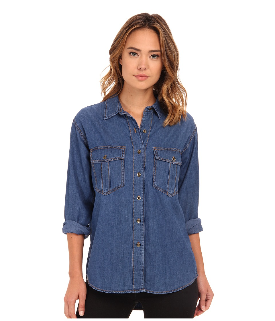 Free People - XO Denim Button Down (Seventies Blue) Women's Clothing