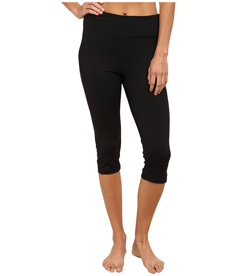 Fila - Make A Statement Tight Capris (Black/Bright Rose) Women's Capri
