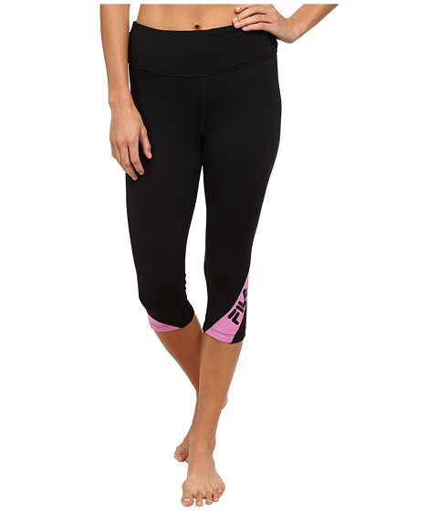 Fila - Make A Statement Tight Capris (Black/Thistle) Women