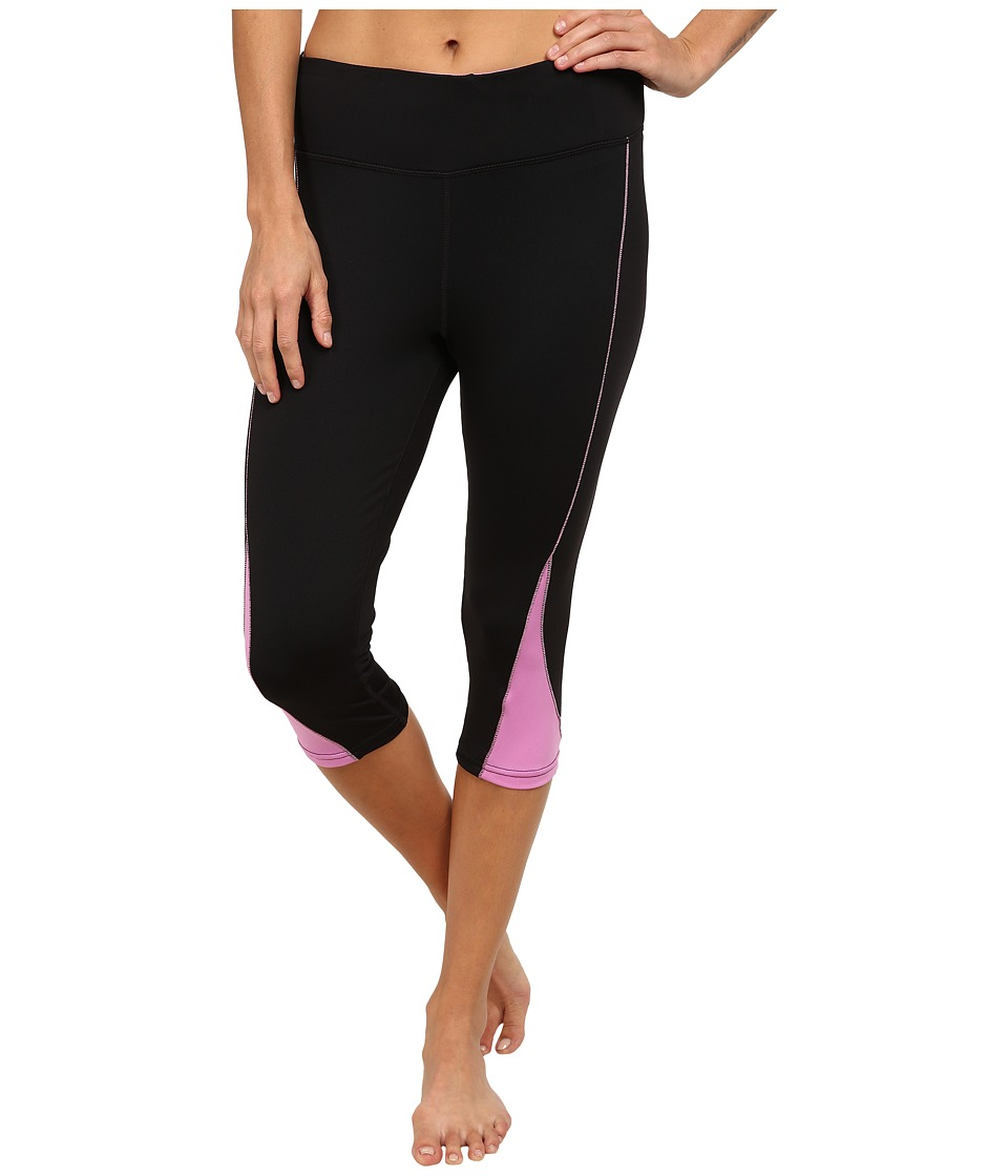 Fila - Motion Tight Capris (Black/Thistle) Women's Capri