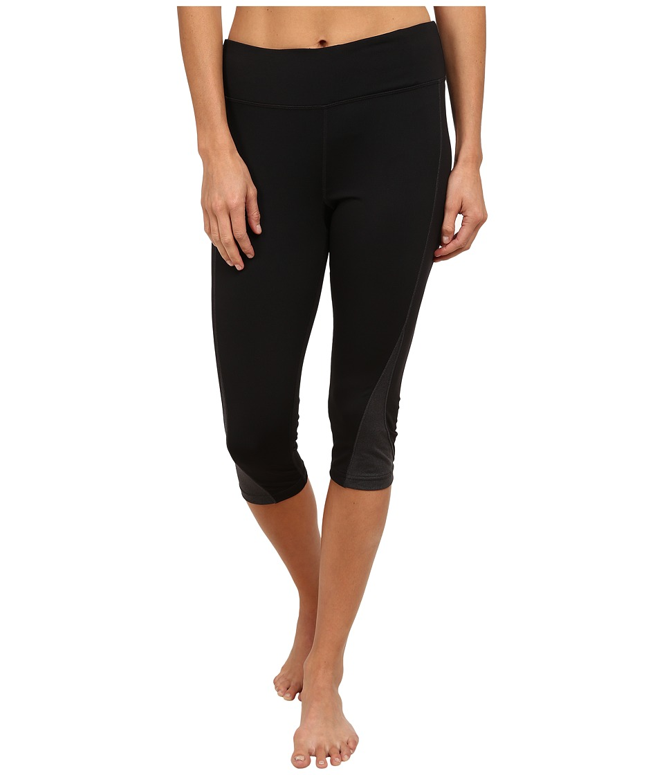 Fila - Motion Tight Capris (Black/Black Heather) Women's Capri
